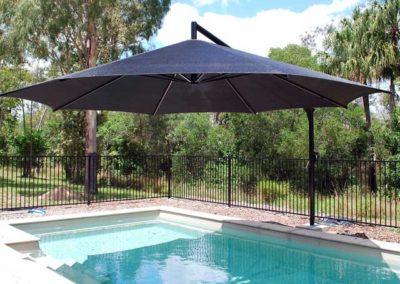 Black On Black Pool Umbrella