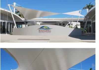 Bundaberg Airport PVC Hypar sail