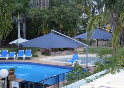 Charcoal & Pewter Resort Umbrellas