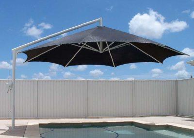 Black on White Pool Umbrella