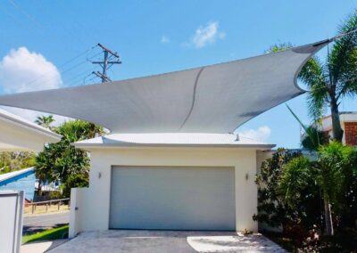 Shade Sail - E32 Silver Grey with Surfmist