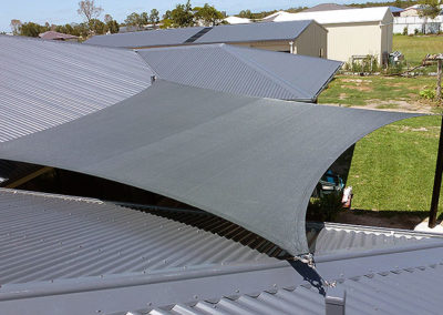 Shade sail - Z16 Charcoal with Black